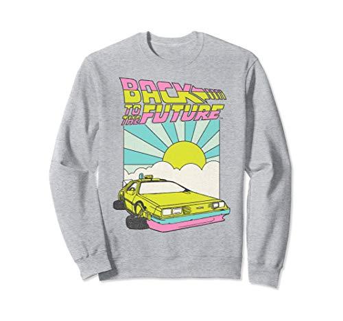 Back to the Future Sunrise Sweatshirt, Grey Unisex, S to 2XL