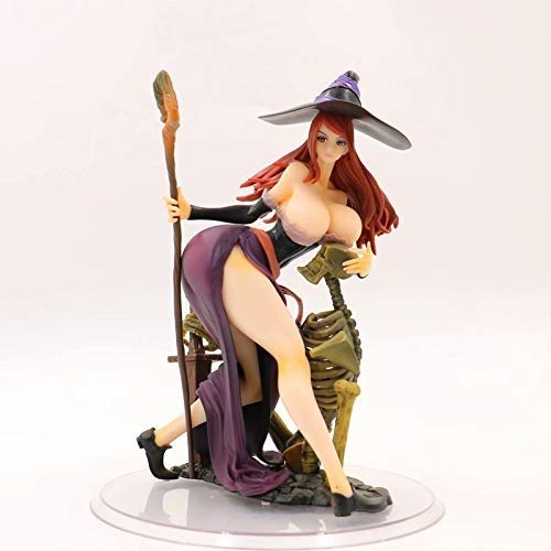 Knmbmg Orchid Seed Dragon's Crown: Sorceress PVC Action Figure 22CM, Anime Sexy Adult Lady Like Woman Witch Dress Up, Otaku' Favorite Computer Desktop Decoration Collection Boxed