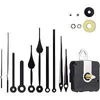 Timelike Movimiento de Reloj de Cuarzo silencioso, mecanismos de Reloj con Manos con Pilas, Mecanismo de Reloj de Pared, reemplazo de Motor, Piezas de reparación de Bricolaje (Black)