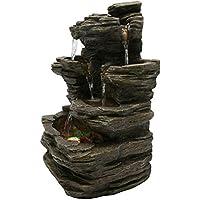 Zen Luz SCFR130 Pietra Fontaine Naturaleza Piedra Gris 25 x 17 x 35 cm