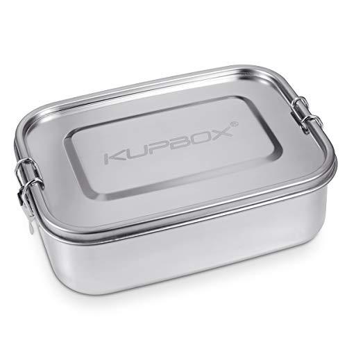 Kupbox Lunchbox aus Edelstahl für Erwachsene und Kinder, auslaufsichere Brotdose Bento Box mit 1400ml Fassungsvermögen, grosse Edelstahl Lunch Box geeignet für Schule,Reisen und Wandern. BPA Frei