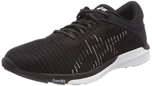 ASICS fuzeX Rush Adapt, Scarpe da Running Donna, Nero (Black/White/Dark Grey 9001), 44.5 EU