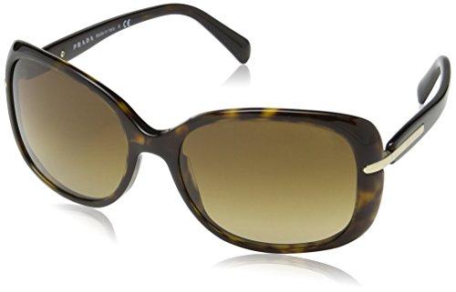 Prada Damen 0Pr08Os 2Au6S1 57 sonnenbrille, Braun (Havana/Brown Gradient)