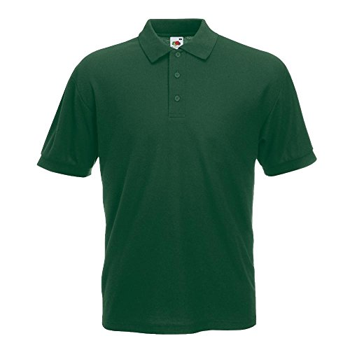 Fruit of the Loom - Piqué Polo Mischgewebe / Bottle Green, L L,Bottle Green