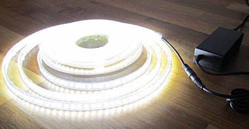 Preisvergleich Produktbild SET: HIGH POWER LED Streifen Strip 600LED 5mt weiss kaltweiß WASSERFEST IP65 mit Netzteil 24Volt (Pro-Serie) 60Watt TÜV-geprüft