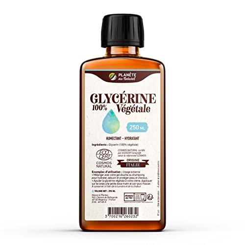 Glycérine 100 % Végétale - 250 ml - Cosmos Natural - Planète au Naturel - Cheveux, corps