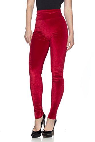 Women's J2 Love Velvet High Waist Leggings, Small, Plush Red