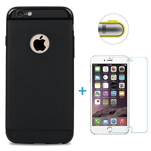 Maviss Diary Funda iPhone 6, iPhone 6s Carcasa Silicona Gel Mate + Vidrio Templado Protector de Pantalla Case Ultra Delgado TPU Goma Flexible Cover para iPhone 6/6s: Amazon.es: Electrónica
