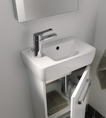 Keramag Renova Nr. 1 Comprimo NEU Handwaschwecken asymmetrisch, 40 cm weiß; mit Hahnloch rechts