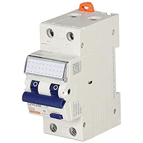 Gewiss - Interruttore Magnetotermico Differenziale Compatto - Mdc 45 - 1P+N Curva C 25A Tipo AC Idn=0,03A - 2 Moduli