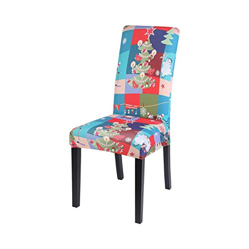 1/2/4/6/8pcs Christmas Elastic Dining Chair Cover Christmas Chair Cover Stretch Sofa Cover for Christmas Banquet Decoration-B5-1pc