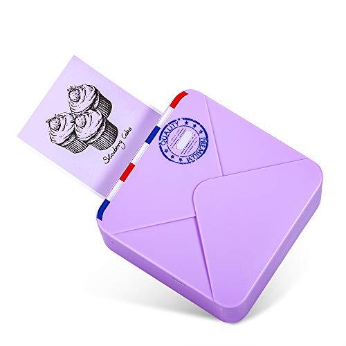 Phomemo M02S Impresora Bluetooth Portatil Impresora Fotos Móvil Mini Impresora Térmica 300dpi, Compatible con iOS y Android, para Imprimir Fotos, Notas de Estudio, Manualidades de Bricolaje, Violeta