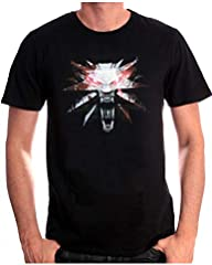 Camiseta para Hombre The Witcher 3 Wolf Medaillon