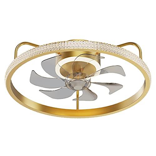 Silent 6 velocidades LED Dimmable Luz de Techo de Ventilador pequeño con Control Remoto, Sala de Estar Moderna Luz de Ventilador de Techo Tranquilo con Temporizador, para Dormitorio