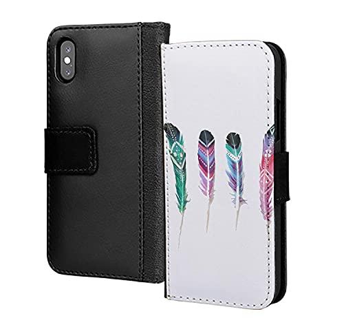 4 características de Joy Love American Indian Birds PU Cartera de cuero en tarjeta de teléfono cubierta para Huawei Y6 2018