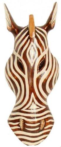 Woru Maske Zebra, Holz-Maske aus Bali, Wandmaske, wahlweise in 30 cm, 50 cm, oder 100 cm (30 cm)
