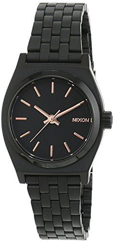 Nixon Damen-Armbanduhr Small Time Teller Analog Quarz Edelstahl beschichtet A399957-00