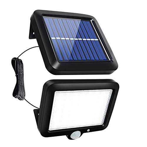 Solarlampen für Außen 56 LED Solarleuchten mit Bewegungsmelder 3 Modi Wandleuchte Außenwandleuchte mit 16.5ft Kabel für Garten Terrasse Balkon Decorate