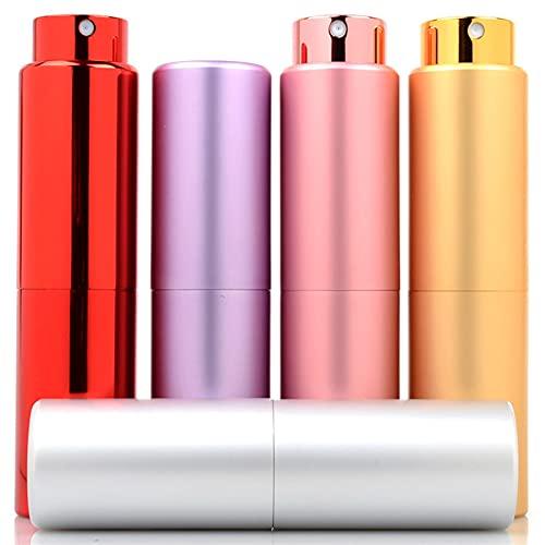 Botella de spray 20 ml de botella de perfume de tubo de aluminio Botella de aerosol de color sólido con forro de cristal Contenedores cosméticos vacíos Perfume de atomizador portátil Dispensador de pe