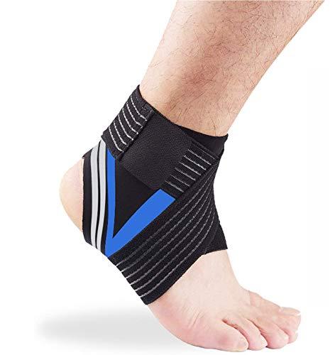 Sinicyder Sprunggelenk Bandage, 1 Paar Anpassbare Knöchel Bandage & Achillessehne Bandage, mit Klettverschluss Fußbandage für Herren und Damen, Knöchelbandage für Zerrungen Verstauchungen und Sport