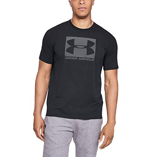 Under Armour Herren Boxed Sportstyle atmungsaktives Sportshirt, schnelltrocknendes Funktionsshirt mit loser Passform, Schwarz (Black), L