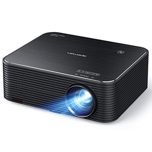 """APEMAN LC650 Beamer, Native 1080P Full HD Heimkino Projektor, 300 \"""" LED Display Unterstützt 4K Video, 4D Elektronische Korrektur & 75{cc5bc7ec06d1fe395381d1084cc484d68b5a7f23c3aa4785ca9bbfd95a921392} Zoom, mit HDMI/USB /AUX, Phone/Laptop/TV Stick/PS4"""