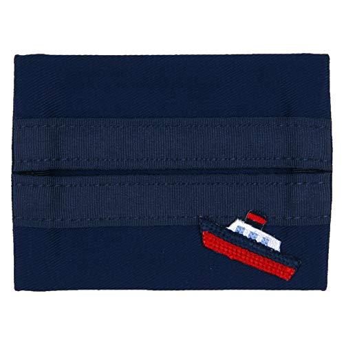 ≪ハッピークローバー/お受験専門店≫ お子様のポケットにはみ出さず入る お子様サイズ用 ティッシュケース 紺色 ふね