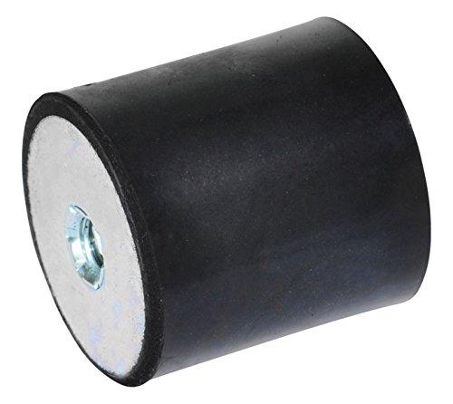 Ganter Normelemente GN 351-50-40-M10-EE-55 351-50-40-M10-EE-55-Gummipuffer, schwarz, Gewinde: M10 Durchmesser: 50mm, 5 Stück