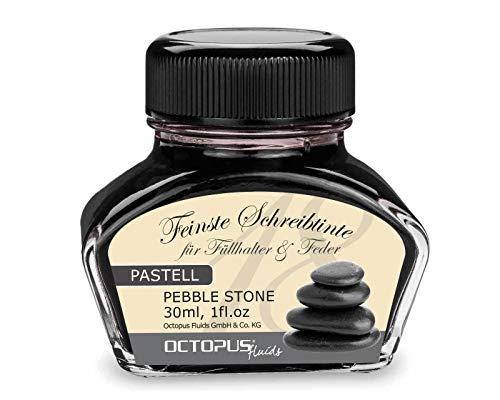 tinta para pluma estilográfica gris pastel'Pebble Stone' 30ml, tinta para escribir, tinta para...