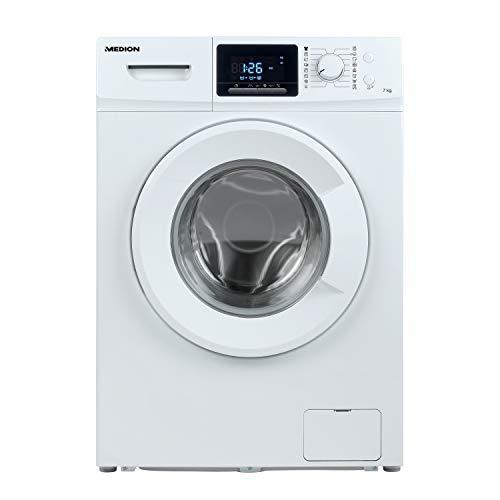 MEDION Waschmaschine 7 kg/Energieeffizienzklasse A+++ / 1400 U/Min/Aqua Stopp / 16 Waschprogramme/LED-Display/Startzeitverzögerung/MD 37378