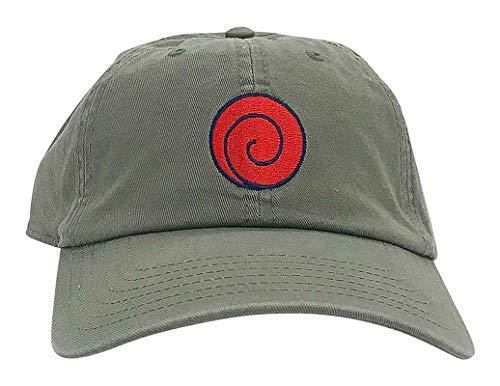 Ripple Junction Naruto Shippuden Adult Unisex Symbol Dad Hat OS Olive