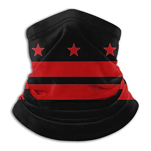 Washington Dc Flag Face Mask Neck Gaiter Multi-Functional Balaclava Bandana For Dust Outdoor