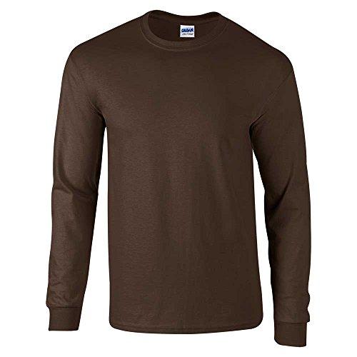Gildan Camiseta de manga larga para hombre de algodón ultra suave - Marrón -
