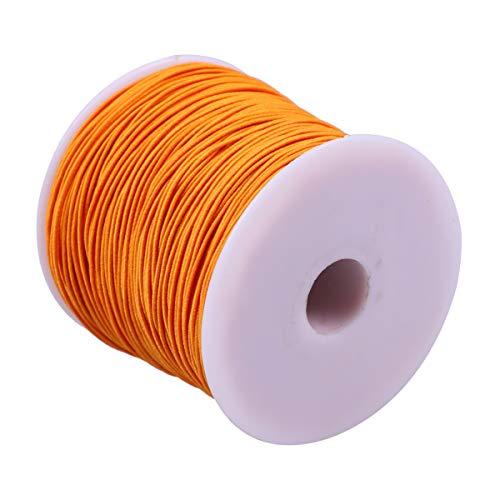 TOYMYTOY 100M en 1 Rollo Naranja Cordón Elástico Cordón Estirable para Joyería Pulsera Que Hace Cuentas Cadena para DIY Joyería Artesanía Suministros