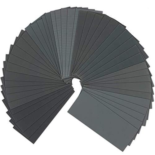 Schleifpapier, Bst4UDirect 120 bis 5000, 9 x 3,6 Zoll, 75 Blatt Nass-Trocken-Schleifpapier-Sortiment für das Schleifen von Kraftfahrzeugen, Holzmöbelveredelung, Holzverkleidung