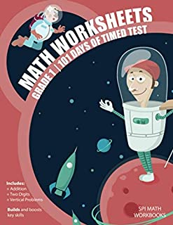 Math Worksheets Grade 1 - 101 Days of Timed Test: 8.5 x 11 Glossy Cover 102 Page Addition Math Drills Workbook For First Graders (Reproducible Math Worksheets)