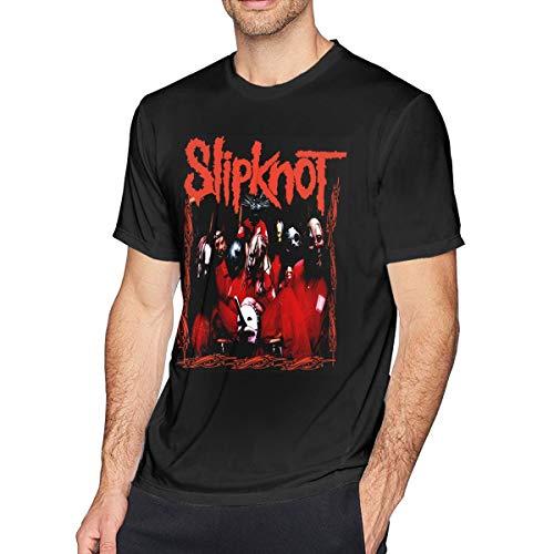Herren Kurzarm T-Shirt Slipknot gedruckt sportlich lässig T-Shirts für Männer bequemes Oberteil