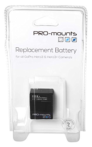 Promounts PM2014GP101 accesorio para cámara de deportes de acción Batería para cámara...