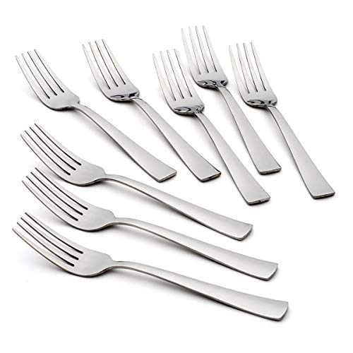 Oneida Zinc Everyday Flatware Dinner Forks, Set of 8, 18/0 Stainless Steel, Silverware Set, 1.4 x 3.75 x 8.5 inches