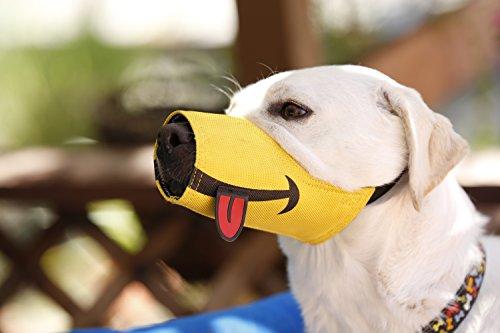 Cesar Millan Funny Muzzle, Smile, Size 4, Yellow