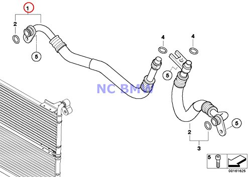 BMW Genuine Engine Oil Cooler Pipe Flow Engine Oil Cooler Pipe 535i 535xi 535xi