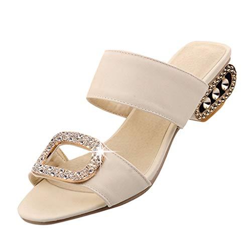 Beonzale Damenmode Freizeit Wasser Kristall Fischmund Sandalen Hausschuhe Schuhe