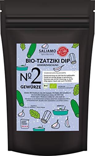 BIO Tzatziki Gewürz, Tzatziki Gewürzzubereitung, mit Knoblauch Zwiebeln Schnittlauch Pfeffer und Salz, nach griechischer Art   Salaimo (100g)
