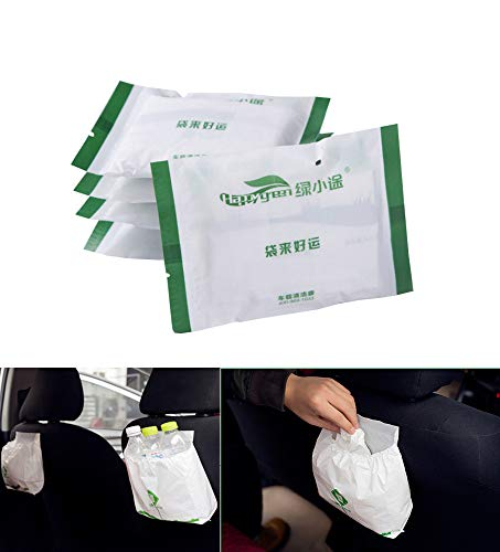 30 Pack Car Biodegradable Trash Bag, Disposable Garbage Bags for Auto Vehicle Office Kitchen Bathroom Study Room, Best Can Bin Container of Waste Rubbish Litter, Leak-Proof Portable Convenient