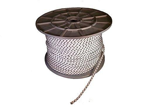 Rolladenschnur 5m-10m-15m-20m Nylonschnur weiss- schwarz 4,5mm Schnurzug Schnurwickler (20m, weiss/schwarz)