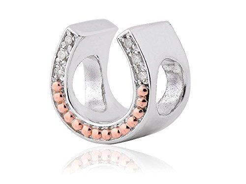 Clogau Silver And 9ct Rose Gold Horseshoe Milestones Bead Charm Bracelet Jewelry
