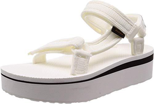 Teva Women's Flatform Universal Mesh Hook & Loop Sandal White-White-6 Size 6