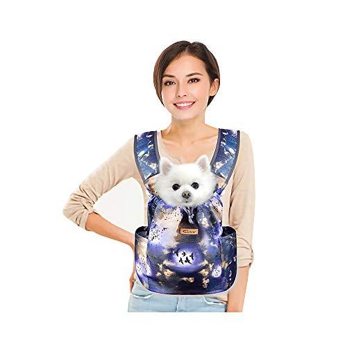 CUBY Mochilas prácticas portátiles coloridas para perros pequeños y gatos para viajes (cielo azul)