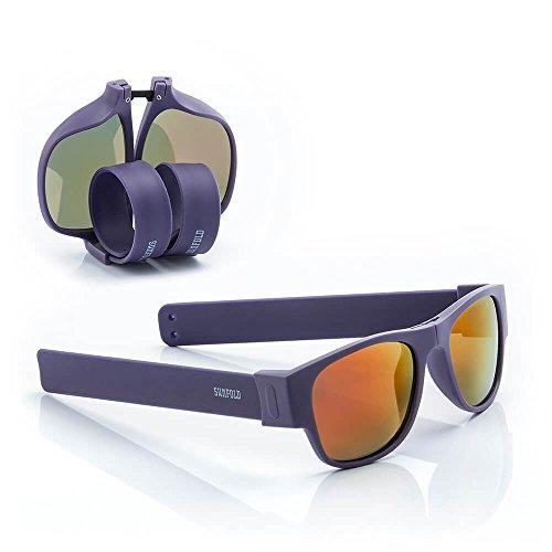 Sunfold Eternal Sunshine Gafas de Sol Enrollables, Hombre, Morado, Talla Única