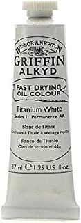 Winsor & Newton Griffin Alkyd Oil Colours titanium white 37 ml 644 [PACK OF 3 ]